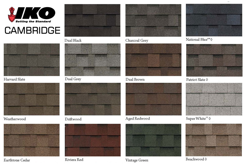 Iko Cabridge Shingle Colors Roof Cat Roofing